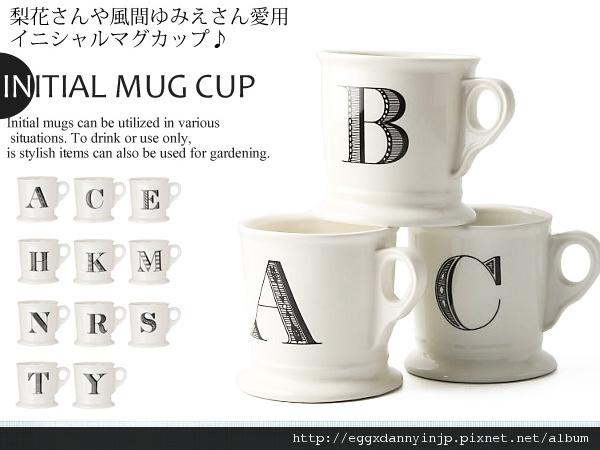 日本英文字母馬克杯