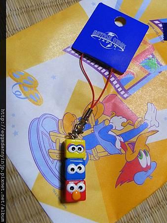 .芝麻街 - ELMO+大鳥+餅乾怪獸 手機立體吊飾 320元