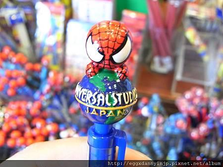 蜘蛛人抱環球自動鉛筆 250元