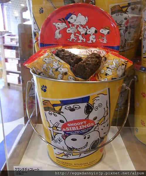 史奴比巧克力桶870元