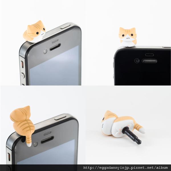 1 neko貓咪造型i phone耳機塞