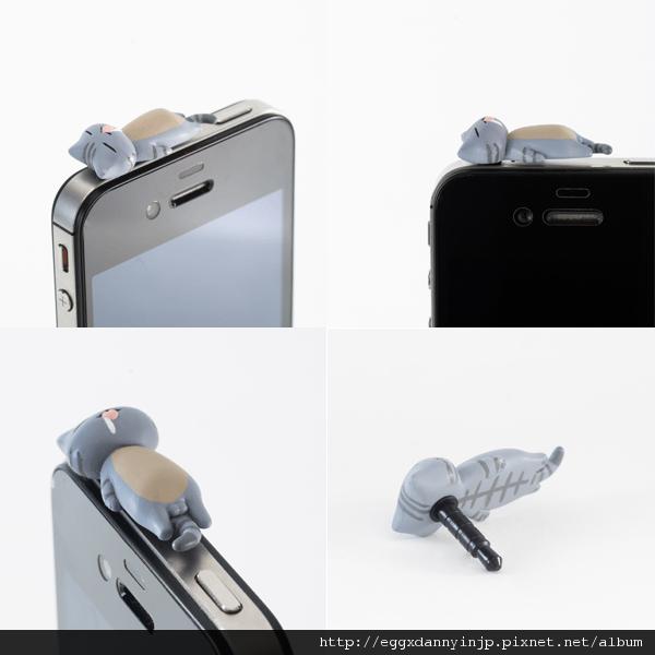 4 neko貓咪造型i phone耳機塞