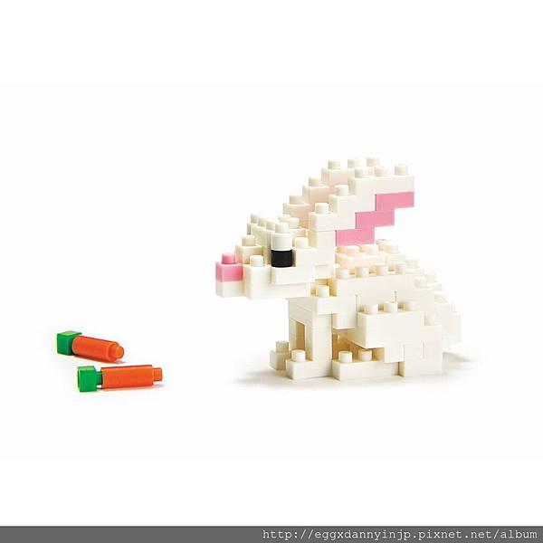 nano block小積木-小白兔