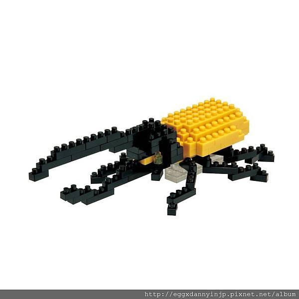 nano block小積木-長頸鹿鋸鍬形蟲