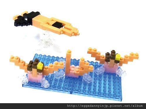nano block小積木-游泳系列