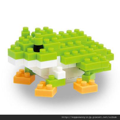 nano block小積木-青蛙