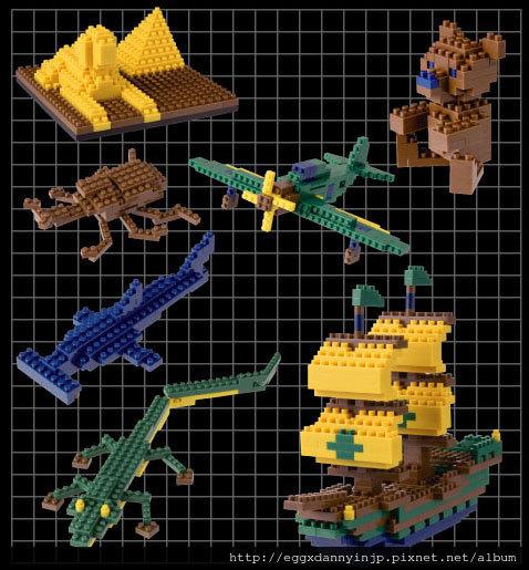 nano block小積木-標準積木組(暗色調系)