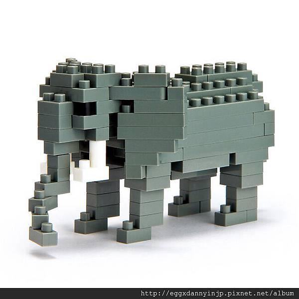 nano block小積木-非洲象