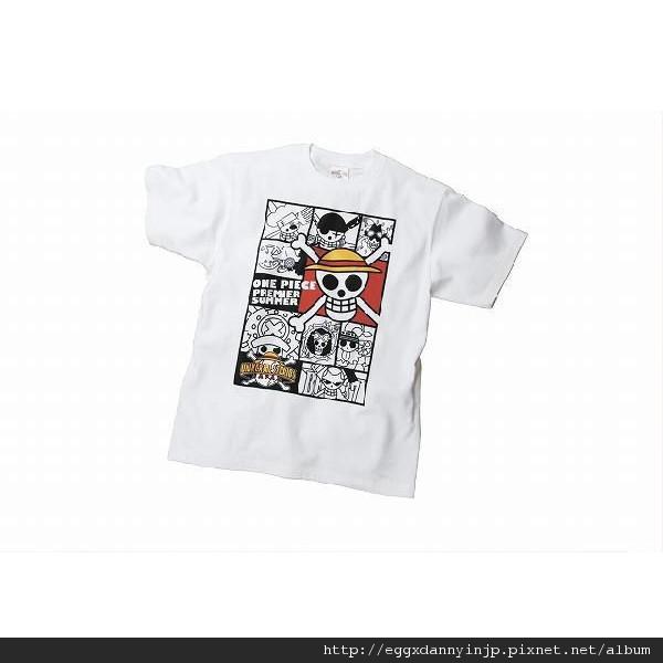 One Pieces航海王海賊旗T-shirt S~L 白/黑