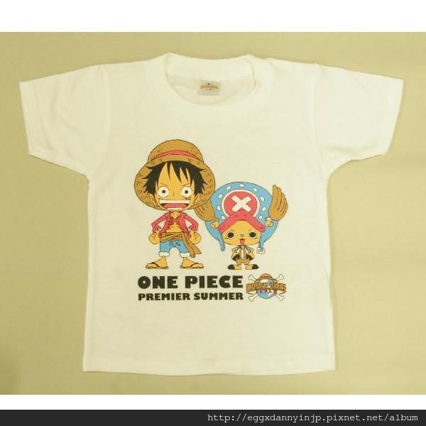 One Pieces航海王兒童T-Shirt 110/130/150 白/藍