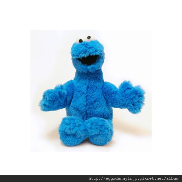 芝麻街cookie monster熊絨毛玩偶M