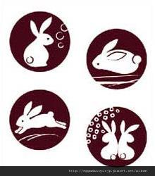 日本和風兔子水晶印章260