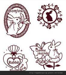 可愛兔子水晶印章260