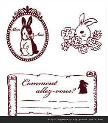 兔子胸章水晶章260