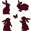 兔子剪影水晶印章260