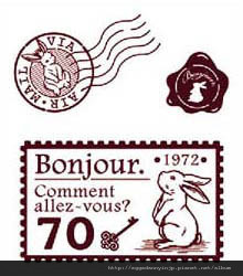 兔子郵票水晶印章260