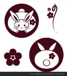 和風兔子水晶印章260