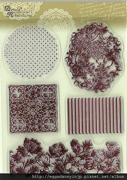 又一組複雜到不行的花紋框水晶印章890