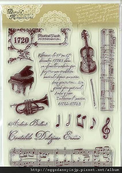 交響情人夢之音樂家氣質水晶印章890