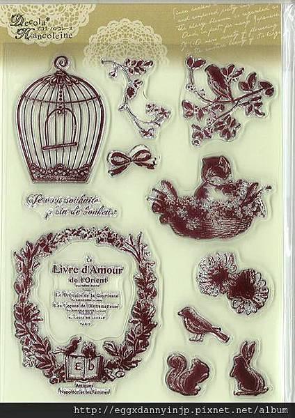 歐洲小動物花園系列水晶印章890