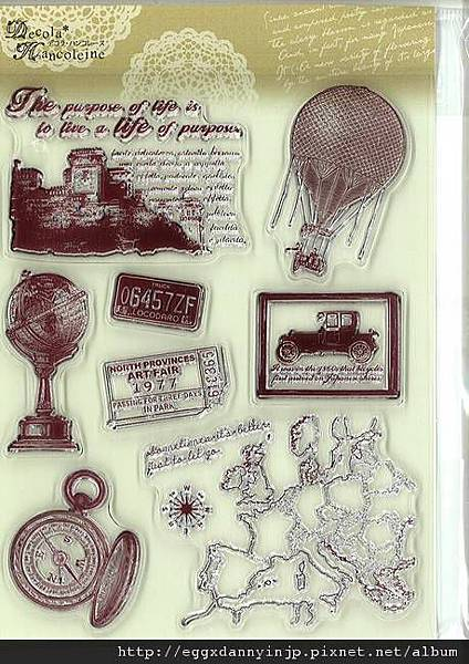 歐洲地圖+雜物的水晶印章890