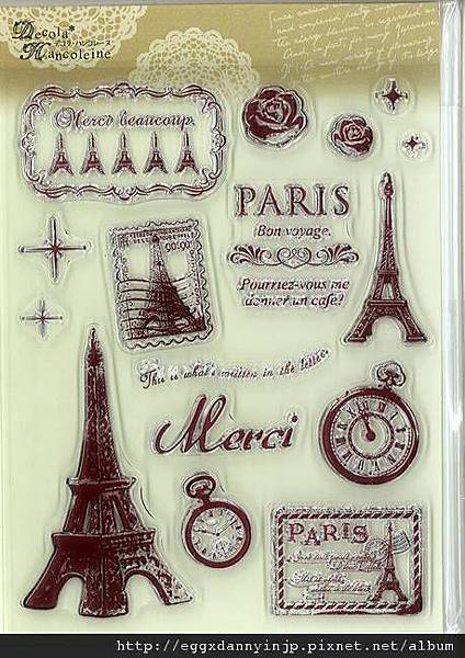 歐洲法國風水晶印章890