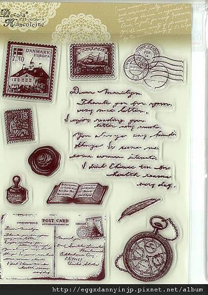 歐洲旅行郵票懷表水晶印章890