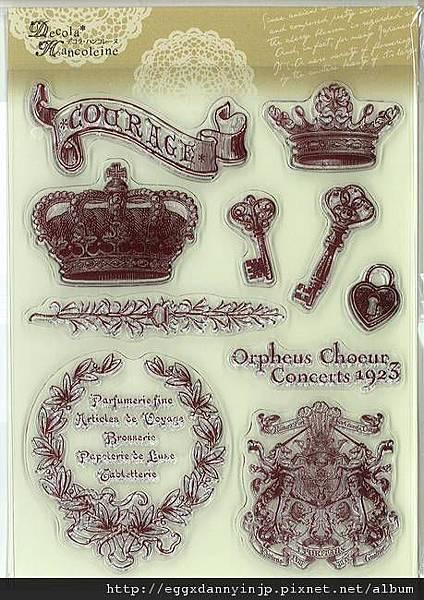 歐洲華麗巴洛克風水晶印章890