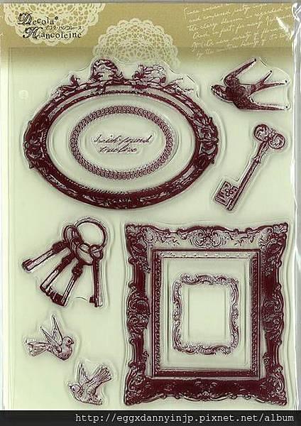 歐洲華麗巴洛克風鑰匙壁框水晶印章890