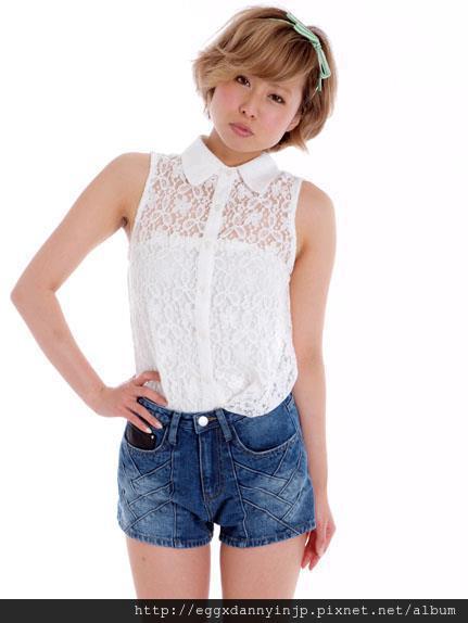 dazzlin蕾絲無袖襯衫