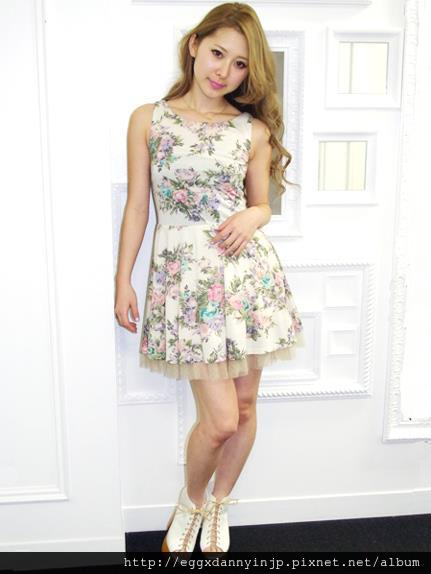 dazzlin印花無袖洋裝