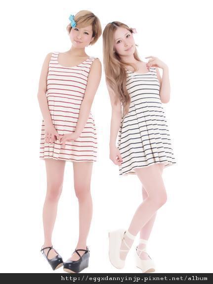 dazzlin條紋無袖洋裝