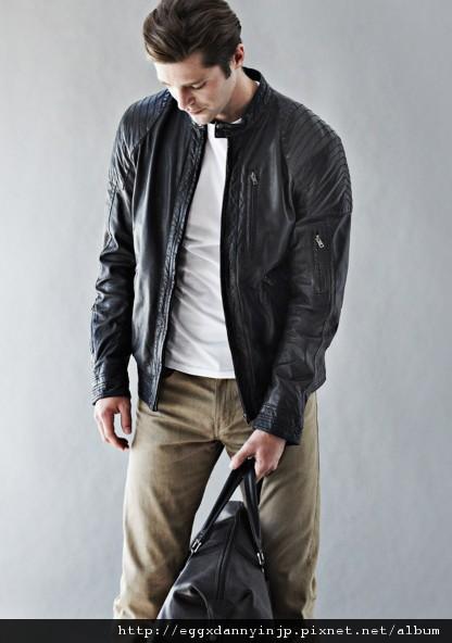 愛牌的本季男裝真提外套 真皮手提包