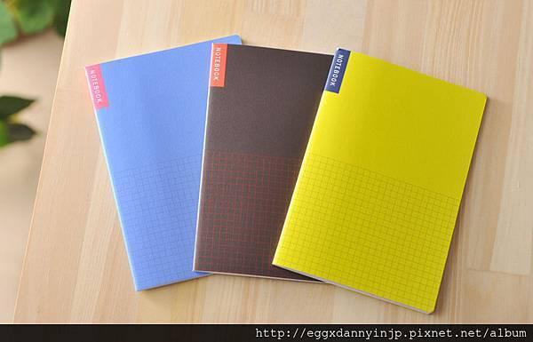 基本款-方格筆記本3入組NT.210