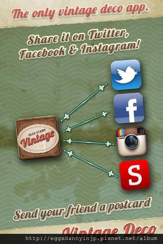 Vintage Deco 文具控必備的懷舊貼紙相片拼貼免費app3