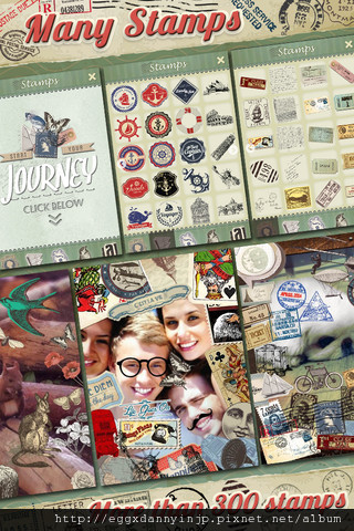 Vintage Deco 文具控必備的懷舊貼紙相片拼貼免費app5