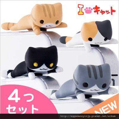 9月新款neko貓咪造型i phone耳機塞 防塵塞 4隻 NICONICO貓咪耳機塞