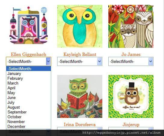 2013有趣的自製貓頭鷹主題月曆網站分享 2