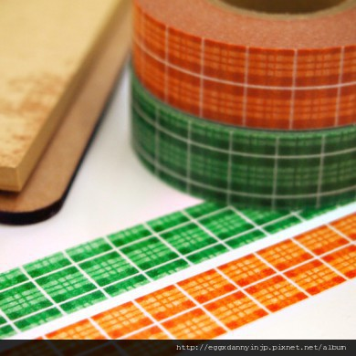 11. 3cions 橘綠格子 WT-3C0001