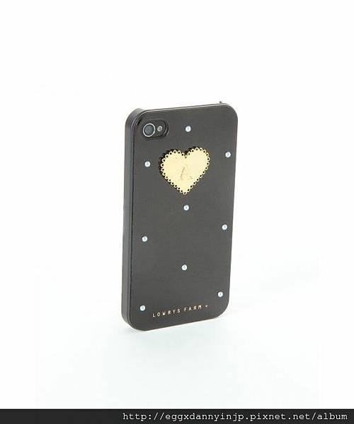 日本代購 lowrys farm Iphone4 4s 鑲金字母A夢幻手機外殼 5