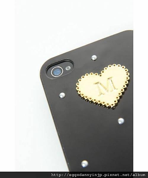 日本代購 lowrys farm Iphone4 4s  鑲金字母M夢幻手機外殼 4