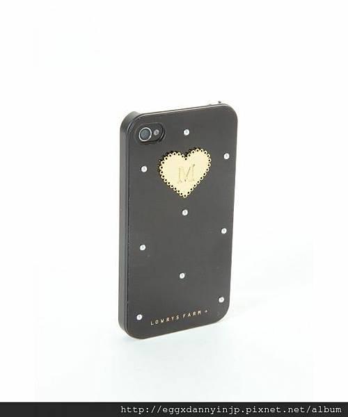 日本代購 lowrys farm Iphone4 4s  鑲金字母M夢幻手機外殼 3