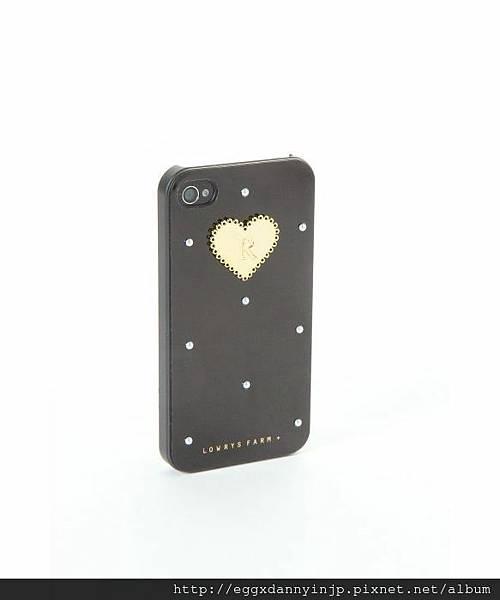 日本代購 lowrys farm Iphone4 4s  鑲金字母R夢幻手機外殼 2