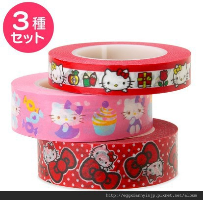 日本Sanrio三麗鷗人物和紙膠帶 - hello kitty