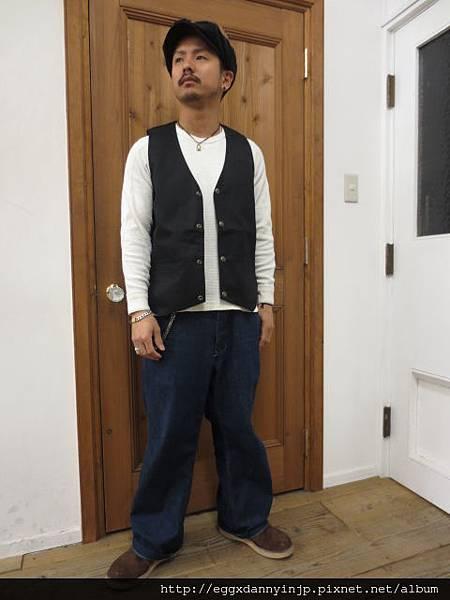 日本品牌 cootie productions 美式復古潮流男用工程師背心 1
