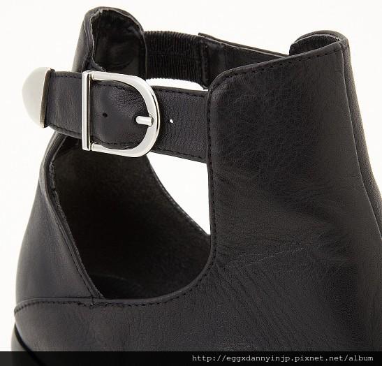 2013 moussy 個性牛皮粗跟低跟扣靴 3  nt.7640含國內外運