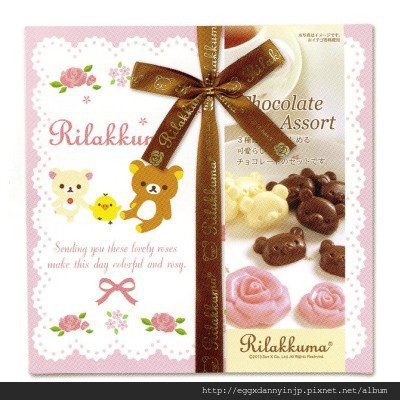 日本代購 爆可愛零食 - 玫瑰拉拉熊巧克 1