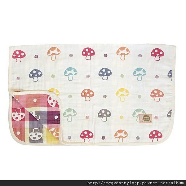 媽媽熱門詢問品 - 日本代購 Hoppetta 蘑菇防踢被子 毯子 日本製 M號 1