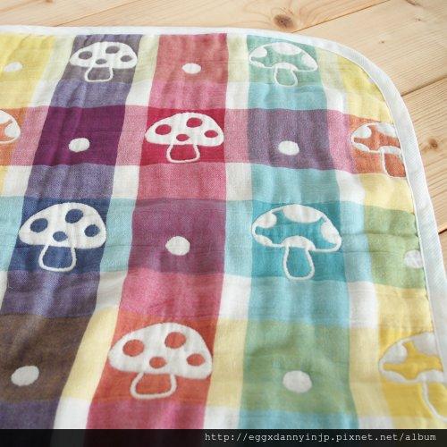媽媽熱門詢問品 - 日本代購 Hoppetta 蘑菇防踢被子 毯子 日本製 M號 3