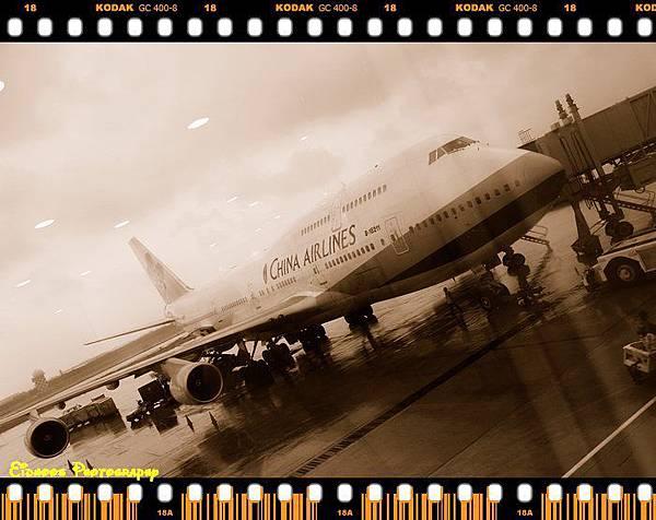 陰雨天的中正機場